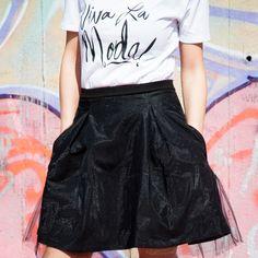 Čierna tylová sukňa - Tina Chic