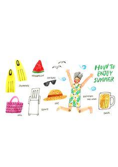 How to enjoy summer by bonbonohri ., via Behance
