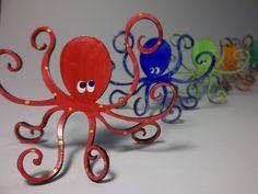Octopus Steel Sculpture  Small  by rebeccaduffybush