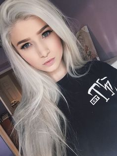 Silver platinum blond hair