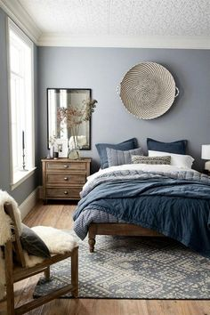 The small master bedroom design is something that numerous individuals consider. It is on the grounds that they need to have the best impression from their master bedroom. One style that a consider… Blue Bedroom Decor, Bedroom Colors, Ikea Bedroom, Bedroom Wardrobe, Bedroom Brown, Bedroom Décor, Indie Bedroom, Bedroom Ceiling, Bedroom Black