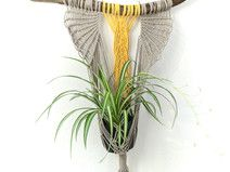 Yellow Beige Macrame Plant Holder | Plant Hanger