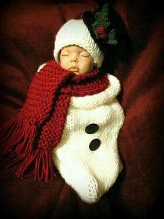 Awwww newborn snowman outfit!✨