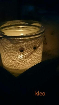 tea light mummy jar  halloween 2015