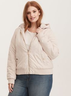 58aeeab0d5e Faux Fur Trimmed Quilted Bomber Jacket
