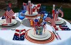 Oh, Say Can You See #Tablescape by Home Is Where The Boat Is.