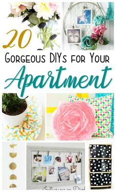 21 Fabulous DIY home decor projects and tutorials that are great for apartment dwellers. It's because they're not permanent, and can be moved, or removed, if needed. YAY for flexibility. Creative Crafts, Diy Crafts For Kids, Diy Hanging Shelves, Diy Wallpaper, Hacks, Diy Camping, Diy Home Decor Projects, Design Furniture, Homemade Crafts
