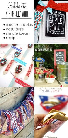 IDEAS, FREE PRINTABLES  RECIPES FOR 4TH OF JULY CELEBRATIONS