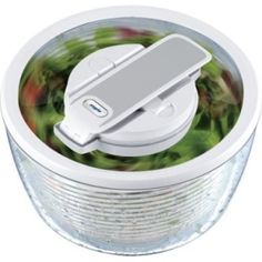 The award-winning Zyliss Smart Touch Salad Spinner features fast-action pump dry technology, bringing fun and ease to salad preparation while cleansing greens, berries, and herbs of dirt and other impurities. The easy to use one-pump lever creates a sm Kitchen Items, Kitchen Gadgets, Kitchen Dining, Kitchen Stuff, Aqua Kitchen, Kitchen Things, Kitchen Utensils, Kitchen Tools, Salad Spinner