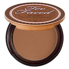 Too Faced - Chocolate Soleil Medium/Deep Matte Bronzer: I use this to contour my cheeks, jawline, and hairline. This is the best one that I've used because it has a matte finish without any shine or sparkle. It makes the contouring look much more natural.