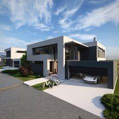 Minimal House Design, Modern Small House Design, Modern Villa Design, Modern Exterior House Designs, Bungalow House Design, House Front Design, Small Modern Houses, Modern Minimalist House, Contemporary Houses