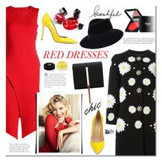 """""""Hot Red Dress"""" by mada-malureanu ❤ liked on Polyvore featuring Dolce&Gabbana, Gianvito Rossi, Givenchy, Butter London, Maison Michel, women's clothing, women, female, woman and misses"""