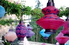 Lanterns!!! Use them to the fullest! Odd shapes and sizes!