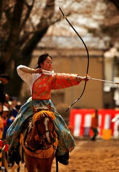 """Warrior women"" Series - The northern part of Japan is the place where the majority of archers are women. This event is a woman's only event. They ride and shoot at fixed targets. Towada has the most women archers in Japan. This City also has the most women archers in the country. Very traditional sport."