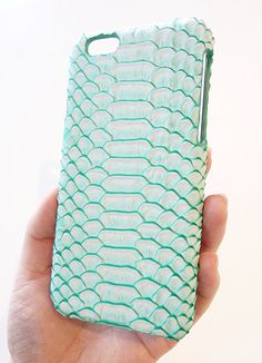 Ombre Hue Croc skin for Apple iPhone 6 6s 4.7 Pastel Mint Green Embossed custom designed leather CellPhone Mobile Cell Phone Smartphone Faceplate protection Hard Case Cover Women unisex men Gift handmade by Yunikuna