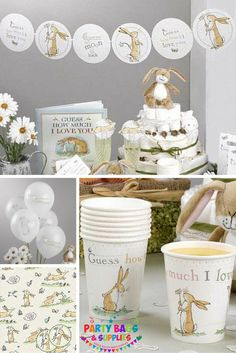 Our range of party supplies is hard to beat! From birthdays to seasonal party stuff, we have it covered. 1st Birthday Party Bags, 1st Birthday Themes, Bunny Birthday, Baby Party, Baby Shower Parties, Baby Boy Shower, 2nd Birthday, Baby Shower Gifts, Online Party Supplies