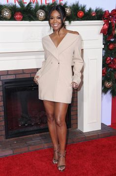"""Actress Gabrielle Union hit the premiere of her movie """"Almost Christmas."""""""