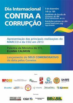 Dia internacional contra corrupção