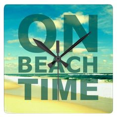 Typography Ocean Beach Wall Clock: http://www.beachblissdesigns.com/2015/09/typography-ocean-beach-wall-clock.html