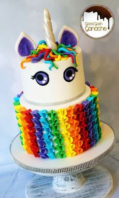 Cake Rainbow Decoration #4 Rainbow Unicorn Cake By Good Gosh ...