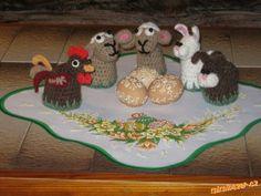 Háčkované ovečky a jiná zvířátka dle naší babičky