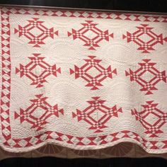 Selvage Blog: Red and White Pieced Quilts