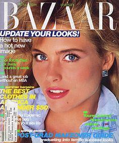 Kim Alexis  -  Harper's Bazaar US June 1985 by Scavullo
