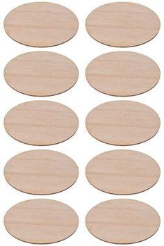 Ozdoby ze sklejki elipsa 10szt 5,5x3,5cm DECOUPAGE
