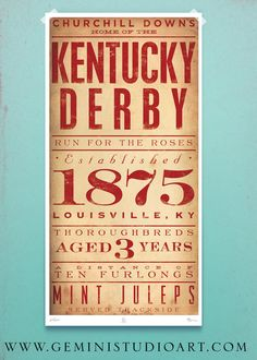 Kentucky Derby and STL giclee prints 15 x 30 by geministudio, $100.00