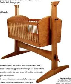 16 BABY FURNITURE PLANS: FREE CRADLE PLANS, FREE CRIB PLANS AND MORE!