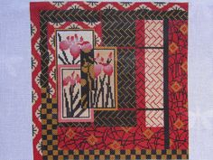 ASIAN IN RED by Mindy Handpainted Needlepoint Canvas