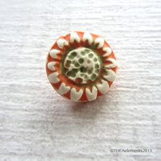 Flower button shank button daisy button stoneware by THEAElements