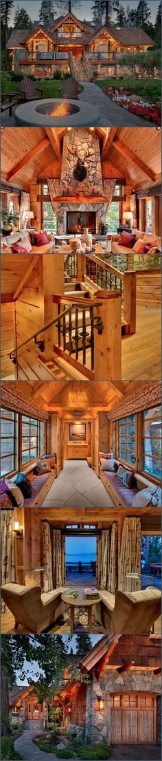 Dream home  Log home  Love Log Cabins Old Tahoe House by OOA Design   Style  Estate  Idyllic Lakefront Country House  Beautiful Log Homes Designs. Home Design Dream House. Home Design Ideas