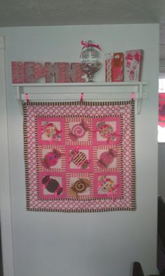 Candy quilt wallhanging