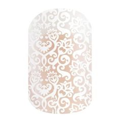 White Romance | Jamberry This clear wrap features an all-over white lace pattern.