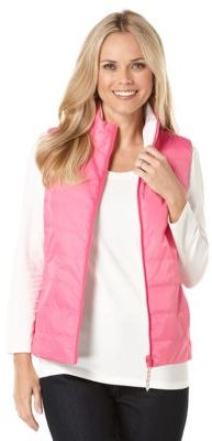 Image result for pink and white reversible quilted vest + rafaella