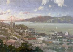 "Thomas Kinkade Signed and Numbered Limited Edition Hand Embellished Canvas:""San Francisco, View From Coit Tower"""