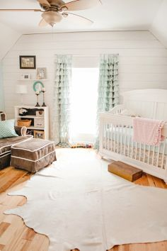 Jennifer Lee | Baby Girl Nursery Rustic Barn