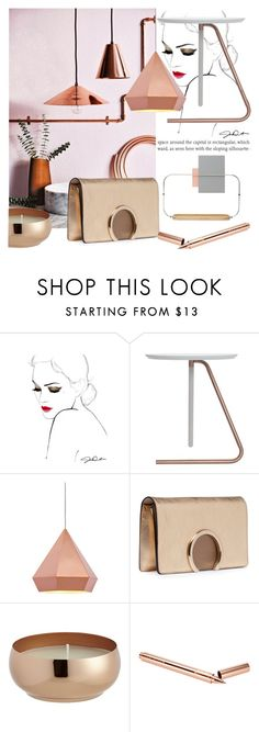 """METALLIC AND FEMININE"" by tiziana-melera on Polyvore featuring interior, interiors, interior design, home, home decor, interior decorating, Zuo, Chloé, CB2 and Tom Dixon"