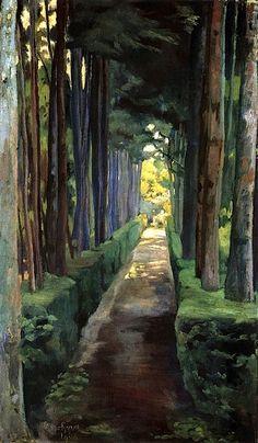DIEGO RIVERA Melancholy Promenade (1904)