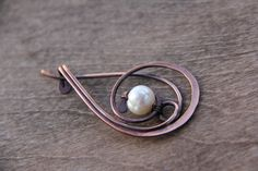 Shawl pin In the frozen air wire wrap shawl pin by Keepandcherish