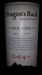 Dragon's Back Mountain Red Wine