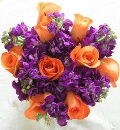 Best Wedding Flowers: Purple Fall Wedding Flowers