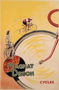 Titulo de la imágen French School, (20th century) - Poster advertising 'Magnat Debon' cycles