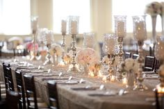 pure elegance: white rose silver wedding decor