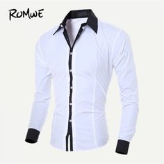 New Men's Shirts Pure Cotton Casual Long Seeved Male Dress Shirts Slim Fit Male Social Business Clothing Comfortable Cotton Cotton Shirts For Men, Casual Shirts For Men, Men Casual, Chemise Fashion, White Shirt Men, Men Shirt, Mens Shirts Online, T Shirt Sport, Men Dress