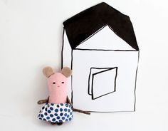 Pilot poco beddy-adiós ratón rosa por matildebeldroega en Etsy