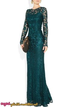 Dolce & Gabbana Lace Gown in Blue (petrol). Same style in grey lace? Would it work for the occasion? Elegant Dresses, Pretty Dresses, Beautiful Dresses, Elegant Gown, Mom Dress, Lace Dress, Lace Gowns, Evening Dresses, Prom Dresses