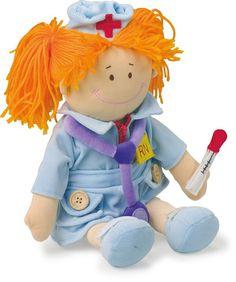 Puppe+Stoffpuppe+Krankenschwester+Beruf+von+Schnullerkette+by+baby+name+for+u+auf+DaWanda.com
