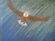 Eagle flight chalkboard